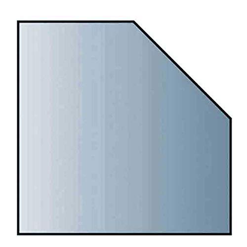 Glasbodenplatte 6 mm Stärke, 110 x 110 cm, Fünfeck 21.02.962.2 Glasplatte Funkenschutz Platte Kamin Ofen Kaminöfen Lienbacher Vorlegeplatte Bodenplatte ESG Sicherheitsglas