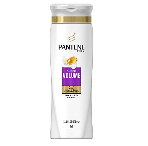 Price comparison product image Pantene Pro-V 2 in 1 Shampoo & Conditioner,  Sheer Volume with Collagen,  12.6 Ounce