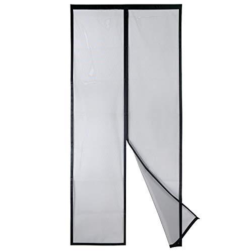 Puerta Magnética Deluxe de Fibra de Vidrio Apalus 2021 - Antimosquitos de Alta Resistencia, Cierre Automático de Arriba a Abajo, Mantiene el Aire Fresco Dentro y Los Insectos Fuera (80x200CM, Negro)