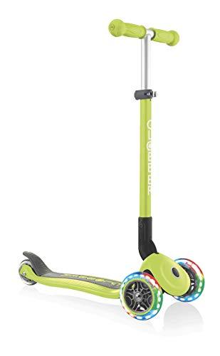 Globber Primo Foldable - Ruedas luminosas, color verde, talla única
