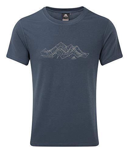 Mountain Equipment Groundup Mountain Tee, S, Denim Blue
