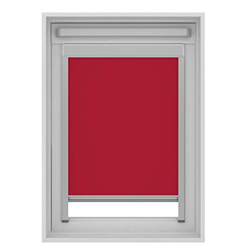 Karwei - Estor Opaco para Ventanas de Techo Velux, Rojo, C02 (55x78 cm)