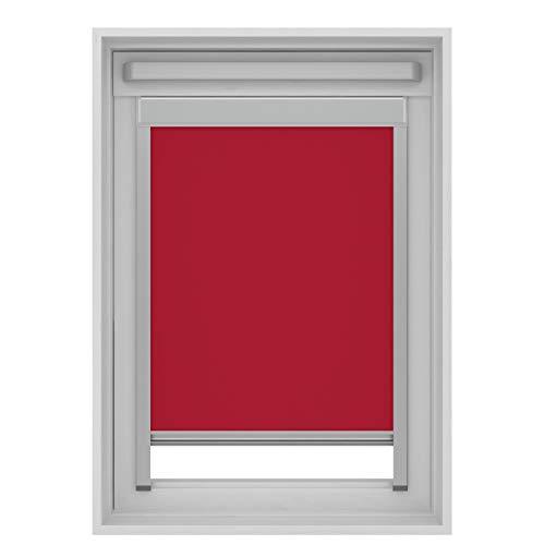 Karwei Store Enrouleur occultant pour fenêtre de Toit VELUX, Rouge, M04/304/1 (78x98 cm)