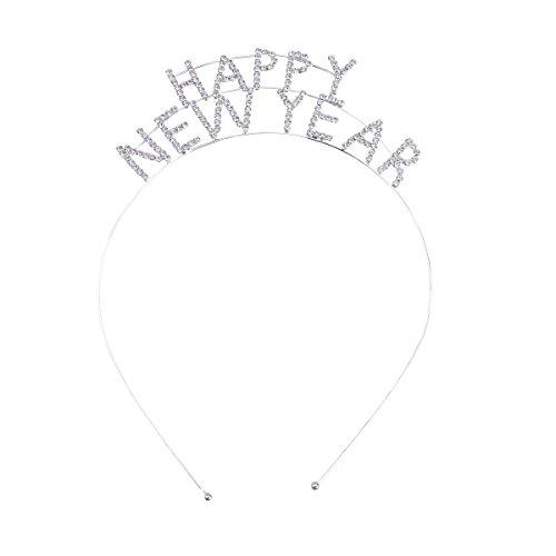frcolor Happy New Year Tiara Diademas gorro de invierno decoración
