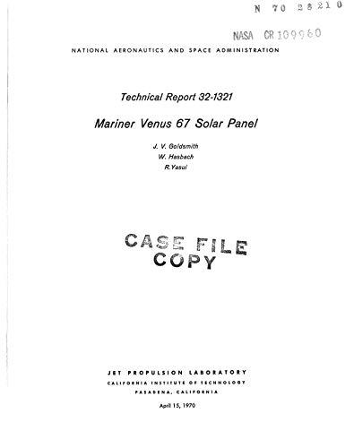 Mariner Venus 67 solar panel (English Edition)
