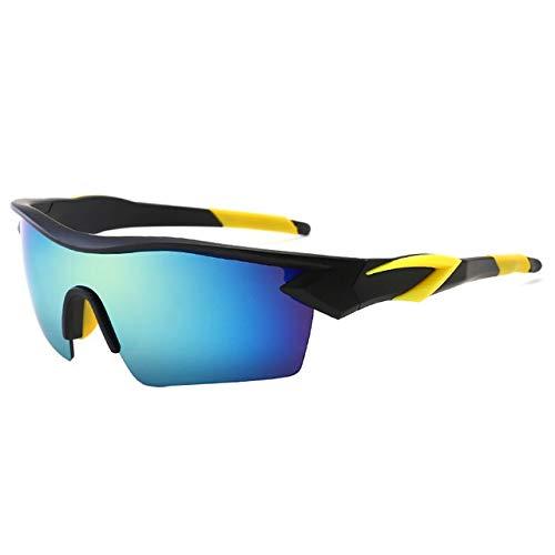 WJBABJ Ciclismo Gafas Eyewear de la Bicicleta de los vidrios del Deporte al Aire Bicicleta de montaña Ciclismo de Carretera Las Gafas de Sol de la Motocicleta Gafas Oculos Ciclismo (Color : Green)
