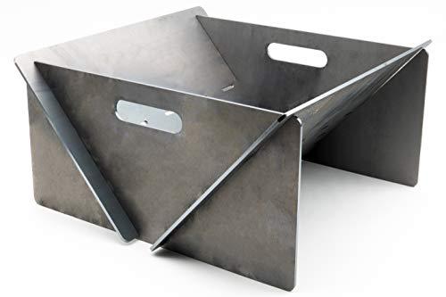 MaTaDa® Feuerschale I Feuerstelle 40 x 40 cm Outdoor - Stecksystem aus massiven 4mm Stahl