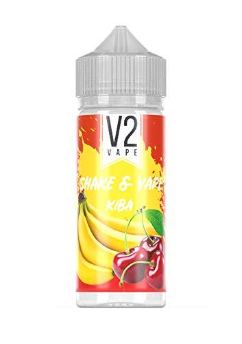 V2 Vape Shake and Vape hochdosiertes Premium Aroma-Konzentrat zum selber mischen mit Base. Zum direkt dampfen - ohne Reifezeit 20ml 0mg nikotinfrei Kirsch-Banane
