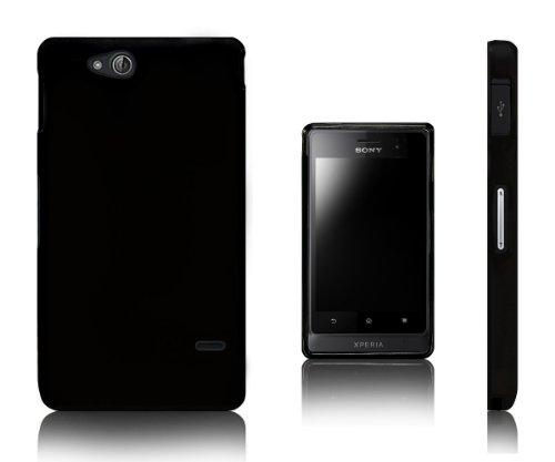 Xcessor Vapour Custodia per Sony Xperia Go ST27i. Flessibile TPU Gel. Nero