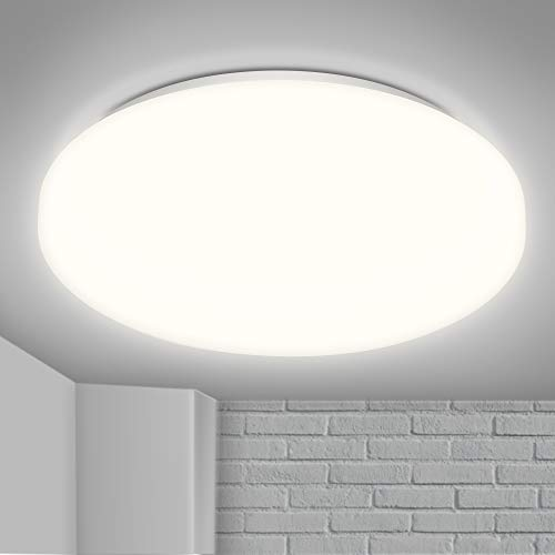 LED Lámpara de Techo, 15w Moderna Plafón Led de Techo Redonda 1200LM, Equivalente a 120W Lámpara Incandescente Lámpara, para Sala de Estar Comedor Balcón, sala, 4000K Blanco (NO impermeable)