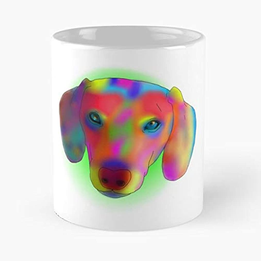 Dachshund Rainbow Dog Canine - Funny Gifts For Men And Women Gift Coffee Mug Tea Cup White 11 Oz.the Best Holidays.