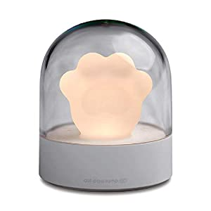 USB Music Box Night Light Cute Cat Claw, Bedside LED Vency Ambient Light for Bedroom, Breastfeeding, Nursery, Bathroom, Kitchen, Xmas Gift Birthday Gift for Kids Girls Girlfriend, Warm White