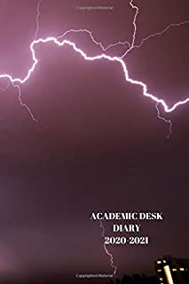 ACADEMIC DESK DIARY 2020-2021: A5 Diary Starts 1 August 2020 Until 31 July 2021. Storm in Sky.Paperback With Soft Water Re...