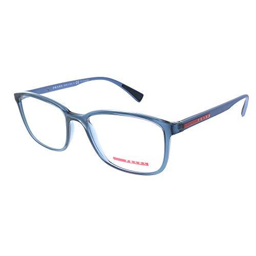 Prada Linea Rossa 0PS 04IV, Monturas de Gafas para Hombre, Azul (Transparente Azure), 55