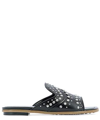 Tod's Luxury Fashion Damen XXW0TK0X690GOCB999 Schwarz Leder Sandalen | Jahreszeit Permanent