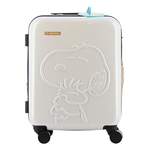 [ピーナッツ] スヌーピー SNOOPY スーツケース 機内持ち込み可 35L 46cm 2.8kg レディース PN-026 アイボリー