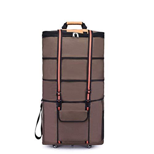 Duff Zeszak met wieltjes van 42 inch, extra groot, uitbreidbaar, lichtgewicht bagage, reizen, opvouwbaar, waterdichte koffer