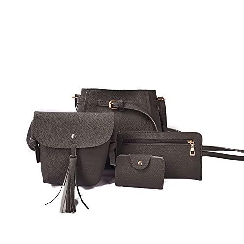 Women Handbags Set 4 Pcs Large Tote Bags Shoulder Bag Top Handle Satchel Fashion Crossbody Bags Purse Card Holder
