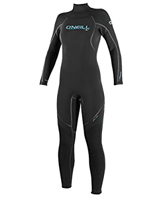 O'Neill Women's Dive Sector 7mm Back Zip Full Wetsuit, Black, 6