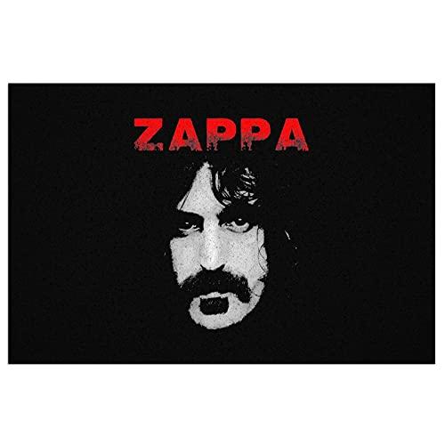 CDMT-XU1 Frank Zappa Felpudo de PVC Duradero Alfombra de Entrada para Exteriores e Interiores Alfombra de Entrada Impermeable con Respaldo Antideslizante, fácil de Limpiar