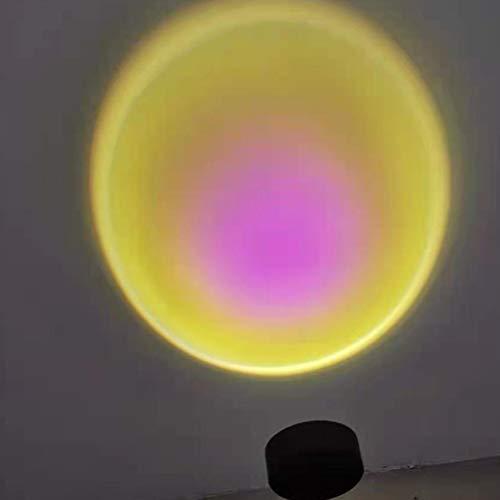 Merkts Lámpara de proyección Sunset, rotación de 90 grados, lámpara de proyección arco iris, luz romántica, luz de red con luz nocturna moderna USB, decoración de sala de estar, dormitorio, sol