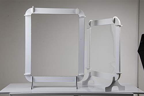 Fotodecora douchewand, bescherming tegen vlekken, kunststof, transparant, eenvoudige montage, voor winkels, medicijnen, tenten, 80 x 80 cm + voeten