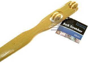 Essential Living 2-in-1 Back Scratcher & Massager With Twin Rollers To...