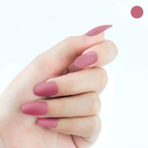 Beashine Künstliche Nägel, Falsche Nägel, 24 Natürliche Französisch Acryl Künstliche Gefälschte Falsche Nägel Kunst für Damen, Mädchen Nägel für Nagel-Salons & DIY-Nailart(P389 Bohnensandfarbe)