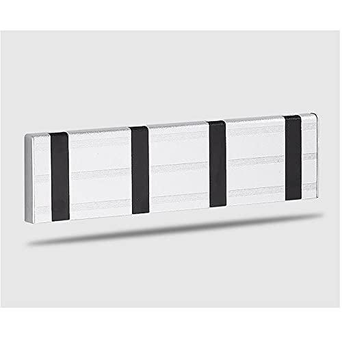 Puerta de entrada Invisible Gancho Espacio Aluminio Puerta trasera Abrigo Abrigo Libre Perforación Montado en pared Sin fisuras Capa Plagable Gancho-C10 simple y elegante combina con el estilo m