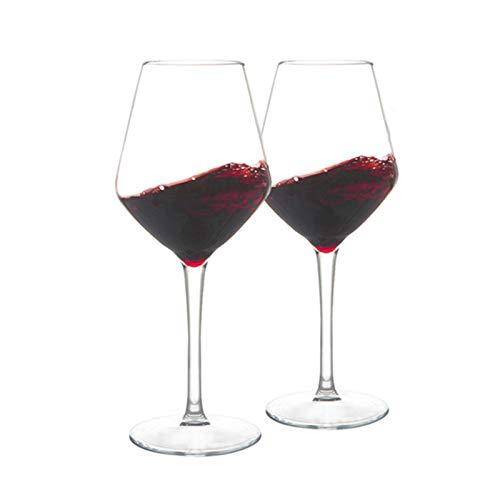 Hs&sure Copas de Vino Tinto Grandes, Gafas Baratas, Conjunto de 2, Regalo...