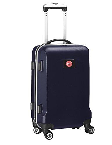 Denco NBA Atlanta Hawks Carry-On Hardcase Luggage Spinner, Navy