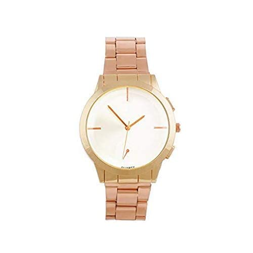 0da064973 Pass Pass Classy Analogue White Dial Watch for Men with Rose Gold Chain