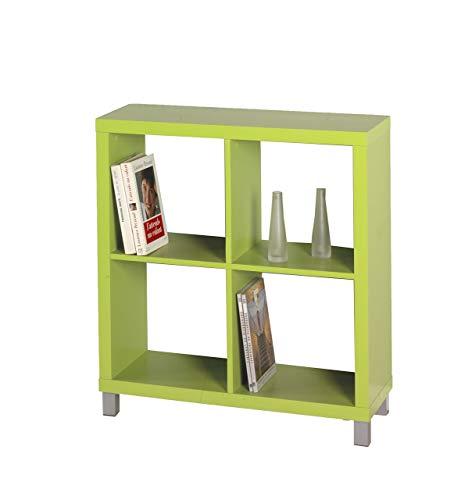 "Kit Closet Estantería ""Kubox"" 4 huecos verde"