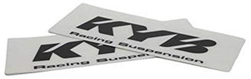 Kayaba Gabel Aufkleber KYB Racing Suspension 24x8,5cm transparent