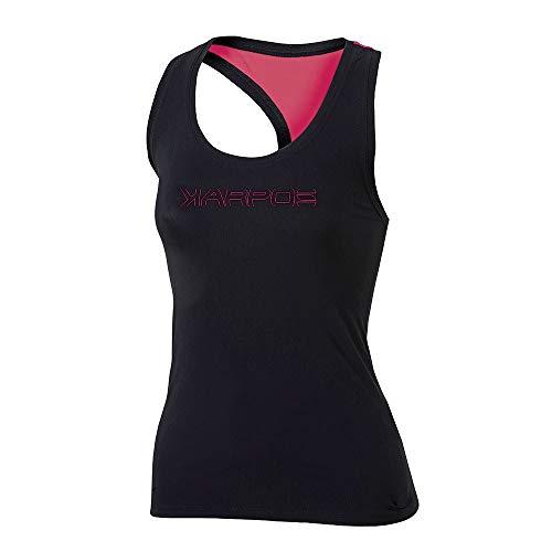 Karpos T-shirt pour femme Quick Black/Paradise Pink-S, M, L L Noir