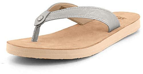 UGG Damen Tawney Metallic Sandale, Silver, 38 EU