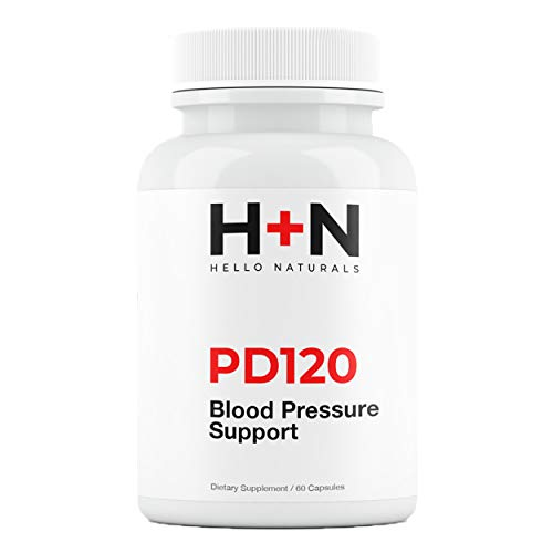 PressureDown120 | High Blood Pressure Supplements | Lower your BP Naturally | Heart Healthy Cardiovascular Formula contains CoQ10, Vitamin D & L-Theanine | Bottle contains 60 Stress Reducting Capsules