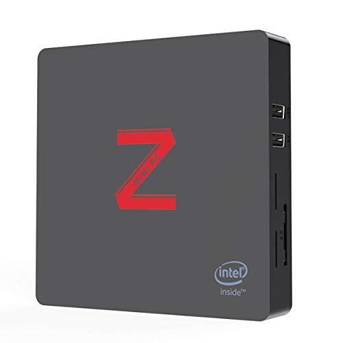 Z85 Mini PC 4G+64G Windows 10 Intel Atom x5-Z8350 Processor, Quad Core Desktop DDR3 Intel HD Graphics 400, BT 4.0 Dual Display VGA/HDMI WiFi 2.4G+5.8G