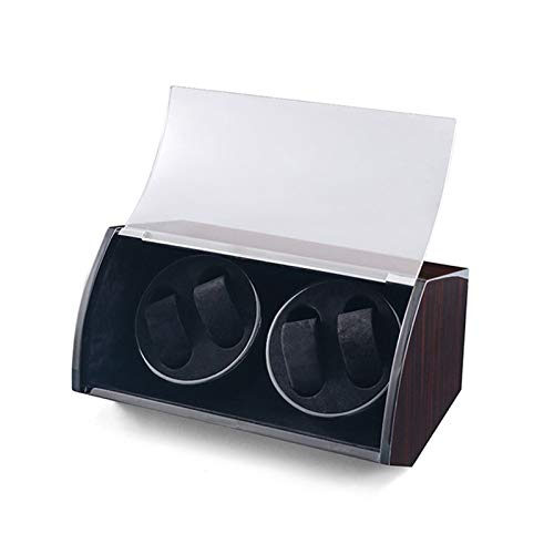 ZIXIXI Cajas giratorias USB Enrollador De Reloj Automático, Caja De Almacenamiento De Relojes Hechos A Mano Caja(Color:Segundo)