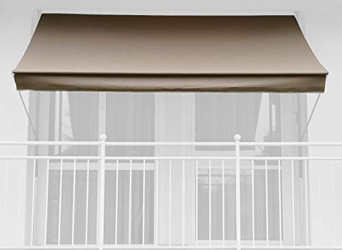 Angerer Markisentuch(ohne Gestell), Design Style Taupe, zu Klemmmarkise (Breite x Tiefe: 400x150cm)