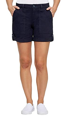 Jones New York Ladies' Utility Patch Pocket Chino Shorts (Navy, 10)