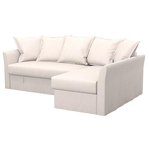 Soferia - IKEA HOLMSUND Funda para sofá Esquina, Eco Leather Creme