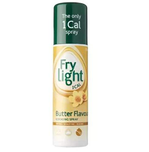 Fry Light Kochspray mit Buttergeschmack, 190 ml – Frylight Butter Geschmack ist perfekt zum Backen und für flaches Braten.