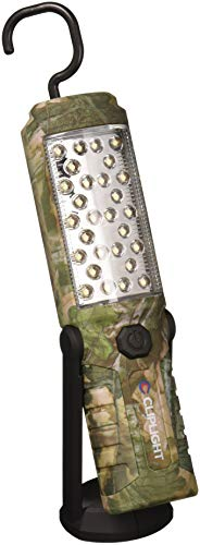 Cliplight 160 Lumen LED Magnetic Pivot Work Light & Flashlight with Rugged Hook & Shockproof/Water-Resistant Shell, Camouflage
