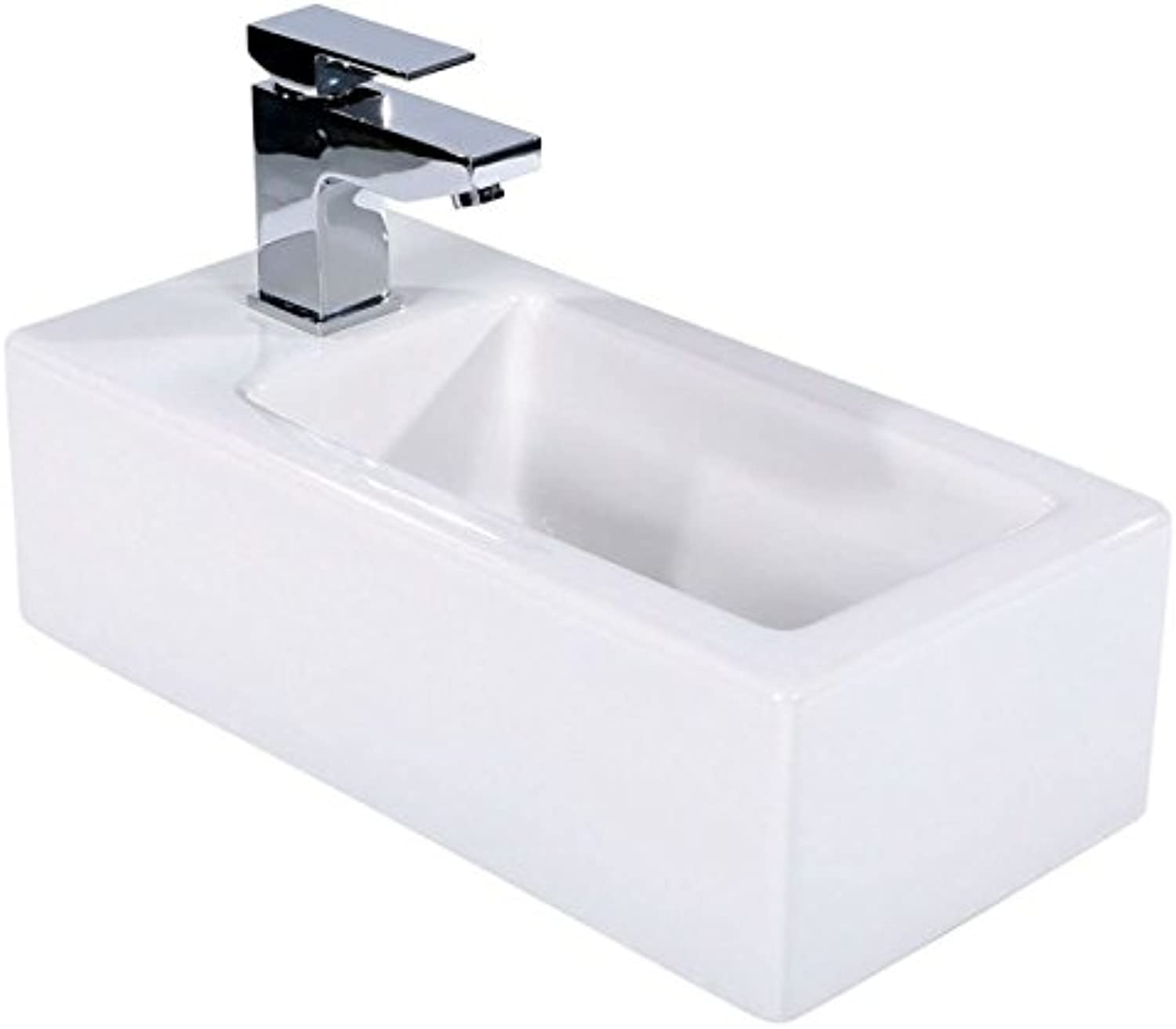Froma Rectangle Wall Hung Cloakroom Basin