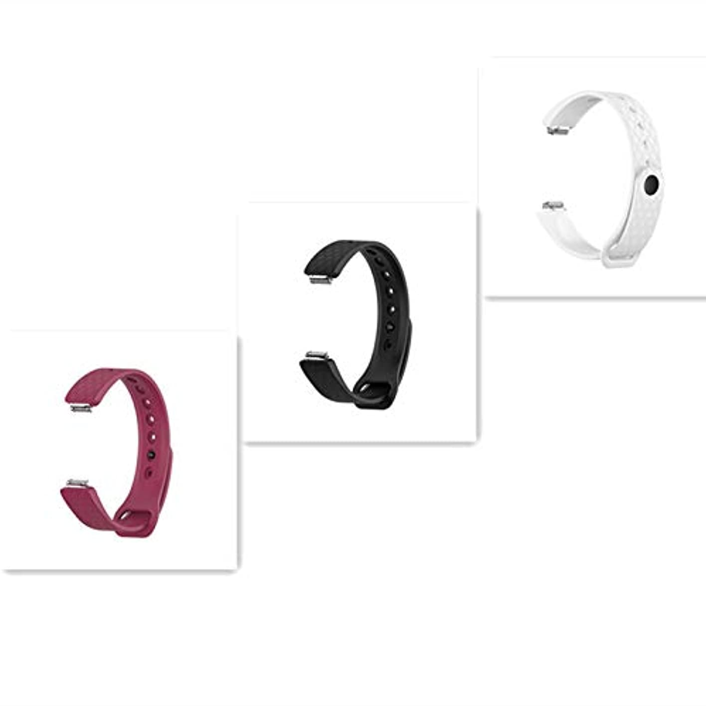 実際の依存適切なEEweca シリコン交換ベルト3個セット バンド for Fitbit inspire フィットビット