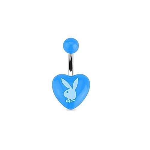 Playboy Paula & Fritz® Bauchnabelpiercing aus Edelstahl Chirurgenstahl 316L Herz mit P.