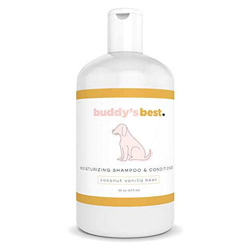 Buddy's Best Dog Shampoo for Smelly Dogs - Hypoallergenic, Oatmeal Dog Shampoo and Conditioner for...