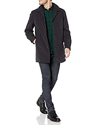 Calvin Klein Men's All Weather Jacket, Black Solid, 46 Long from Calvin Klein Top Coats (Peerless)