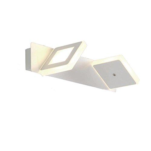 Lámpara de pared personalidad creativa LED faros de espejo simple y elegante Iluminación de dormitorio Lámpara de pared baño caliente baño Delicado (Color : White light)